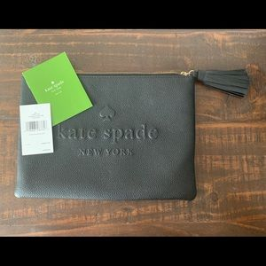 Kate Spade Black Pouch with Tassel New